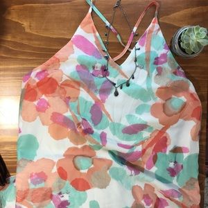 NWT Lulus Maxi Dress Size Small Multi Color